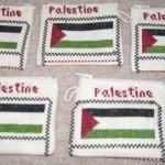 Embroidered purses with Palestinian flag - £