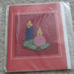 Embroidered Christmas cards: various designs - £