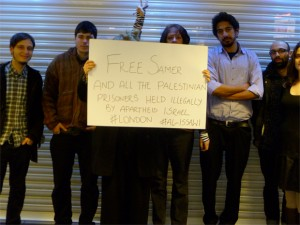 London in solidarity with Palestinian prisoners on hunger strike
