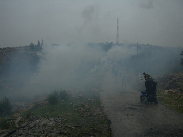 Tear gas in Bil'in